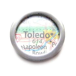 Toledo Ohio Map Pendant Magnet